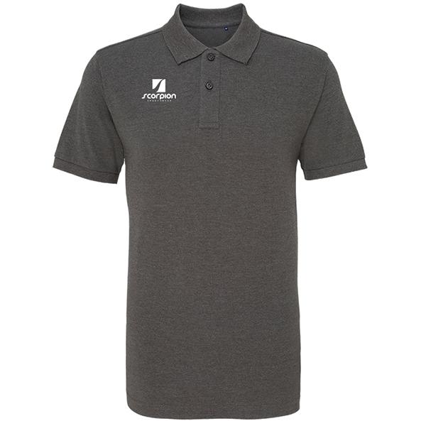Scorpion Charcoal Cotton Polo Shirt