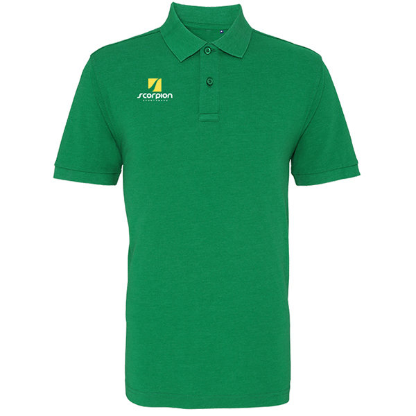 Scorpion Kelly Green Cotton Polo Shirt