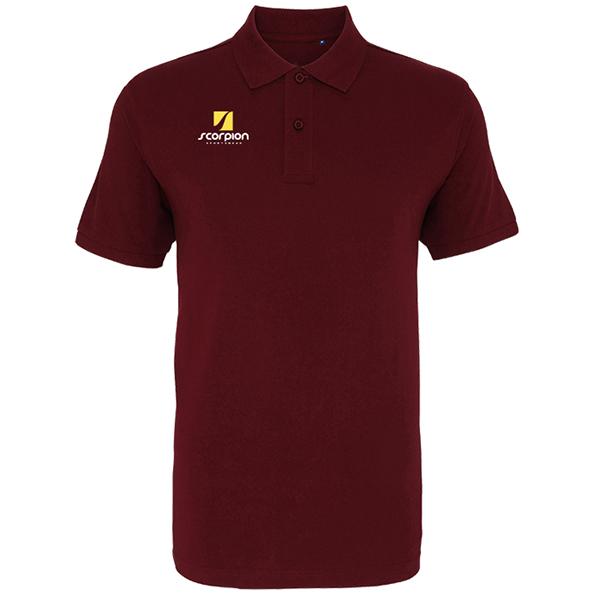 Scorpion Maroon Cotton Polo Shirt