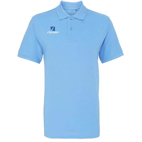 Scorpion Sky Blue Cotton Polo Shirt