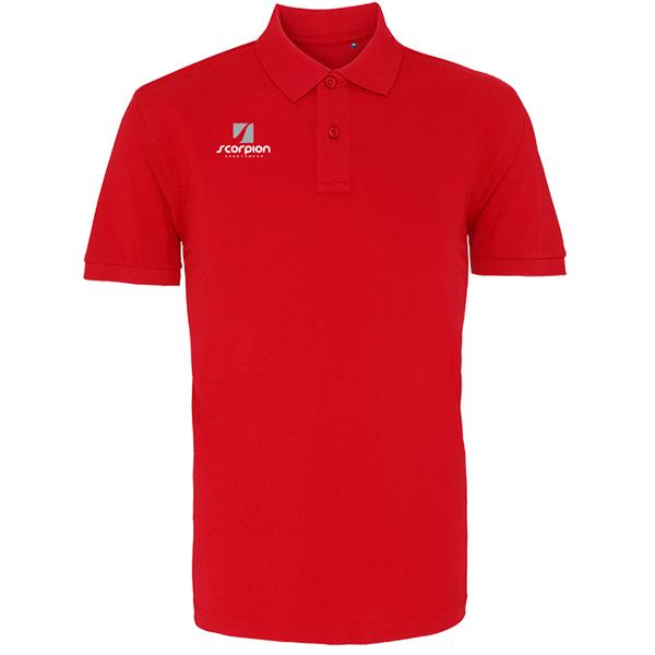Scorpion Red Cotton Polo Shirt