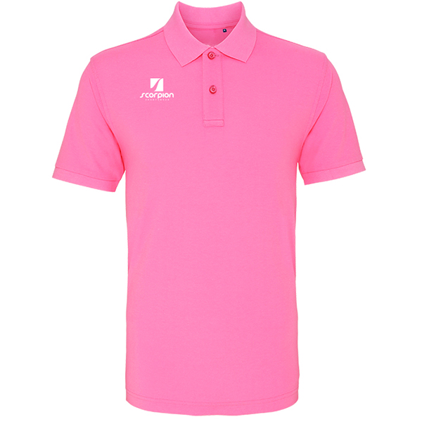Scorpion Pink Cotton Polo Shirt