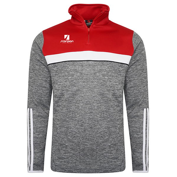 Scorpion Sports Melange Midlayer Red-Grey