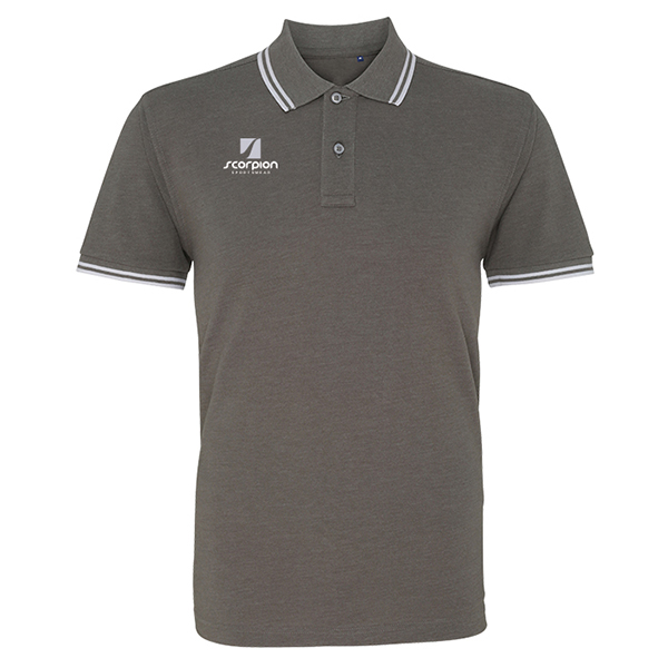 Scorpion Charcoal Grey Tipped Polo Shirt