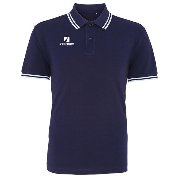 Scorpion Navy White Tipped Polo Shirt