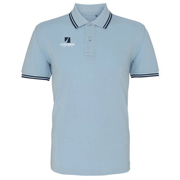 Scorpion Sky Navy Tipped Polo Shirt