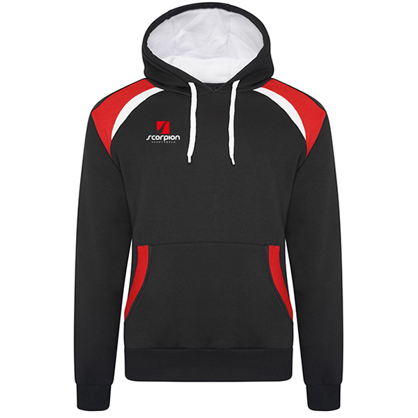 Scorpion Sports Black Red White Elite Hoodie