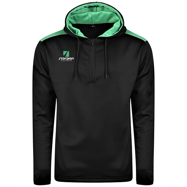 Scorpion Heritage Hoodie Black Green