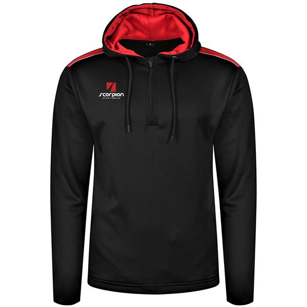 Scorpion Heritage Hoodie Black Red