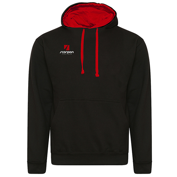 Rugby Tour Hoodies Black Red