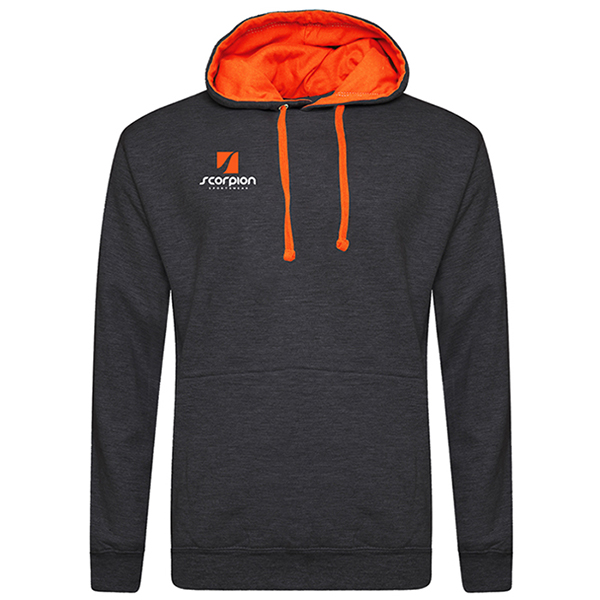 Rugby Tour Hoodies Charcoal Orange