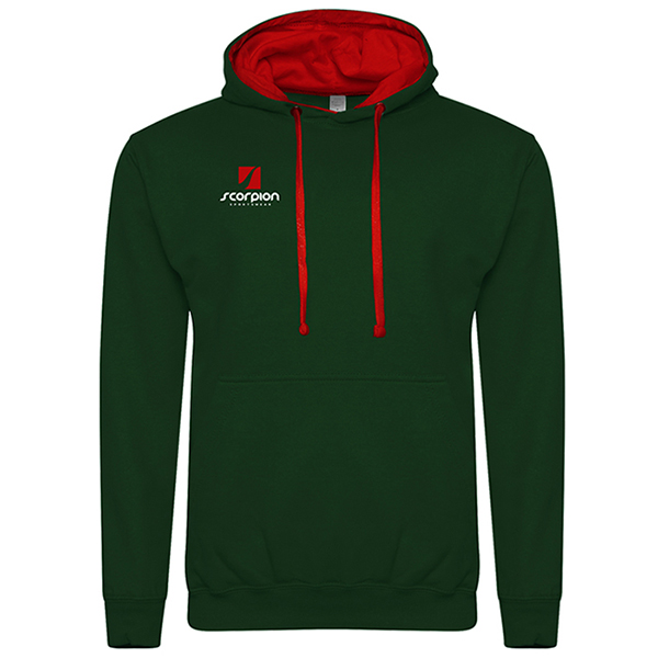 Rugby Tour Hoodies Bottle Green Red