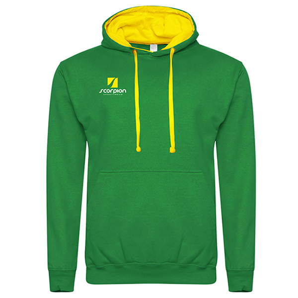 Rugby Tour Hoodies Kelly Green Yellow