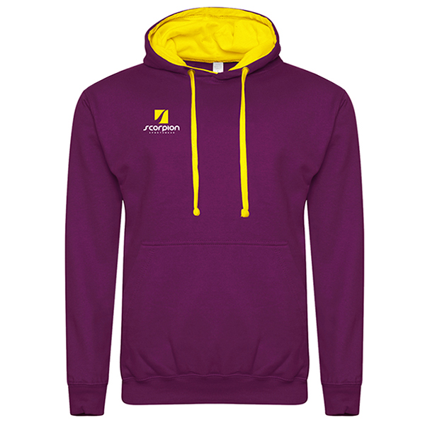 Rugby Tour Hoodies Purple Yellow