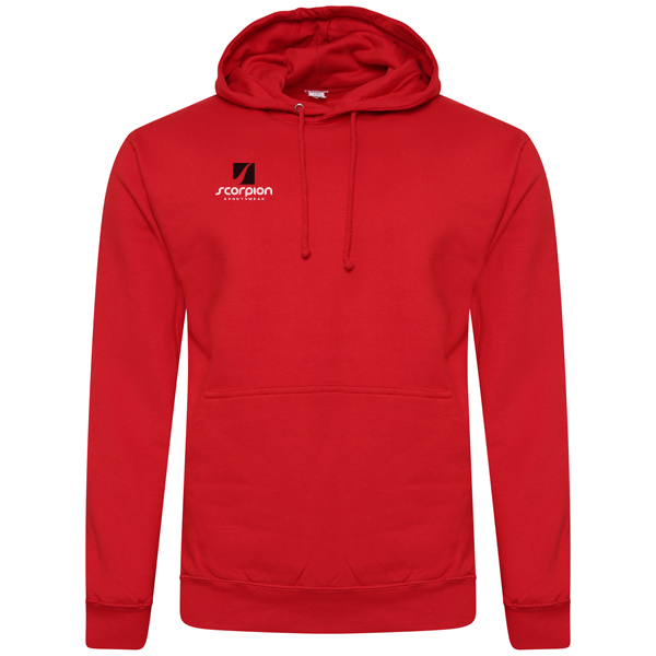 Scorpion Sports Red Cotton Hoodie