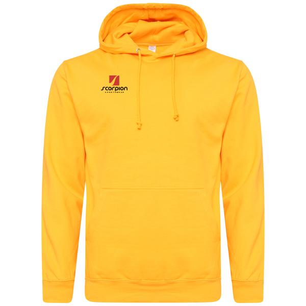 Scorpion Sports Golden Yellow Cotton Hoodie