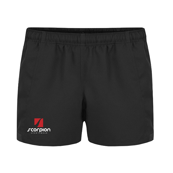 Scorpion Sports Black Rugby Shorts
