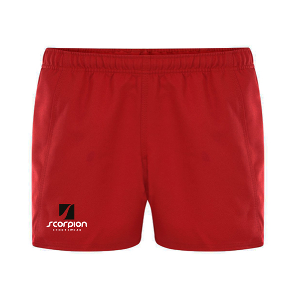 Scorpion Sports Red Rugby Shorts