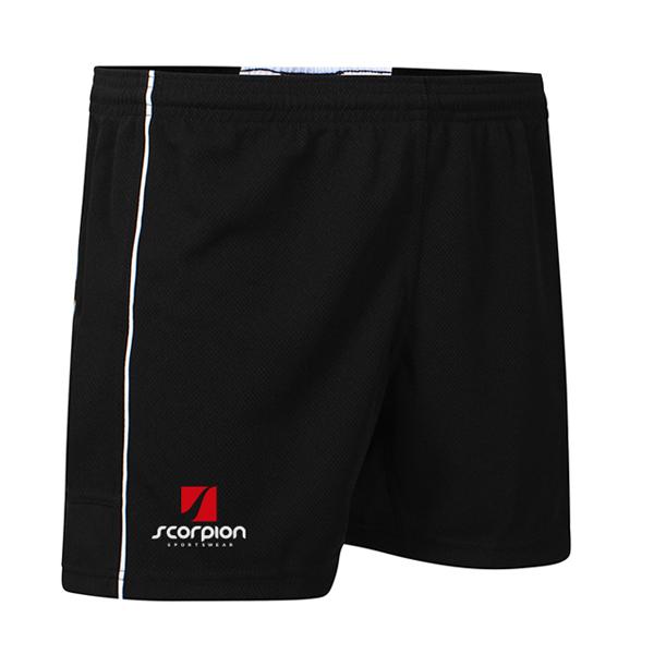 Scorpion Black White Performance Shorts