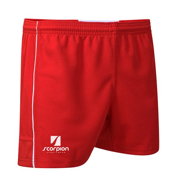 Scorpion Red White Performance Shorts