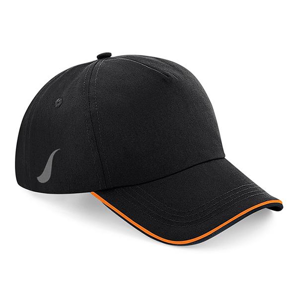 Scorpion Black Orange Sports Cap