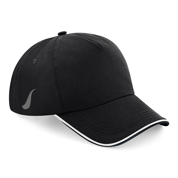 Scorpion Black White Sports Cap