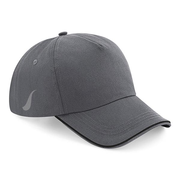 Scorpion Grey Black Sports Cap