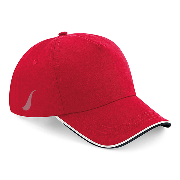 Scorpion Red White Black Sports Cap