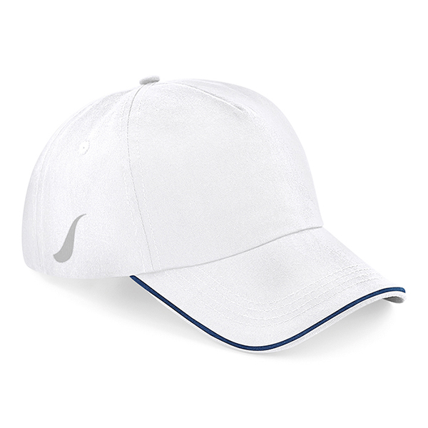 Scorpion White Navy Sports Cap