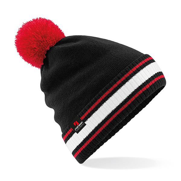 Scorpion Black Red White Bobble Hat
