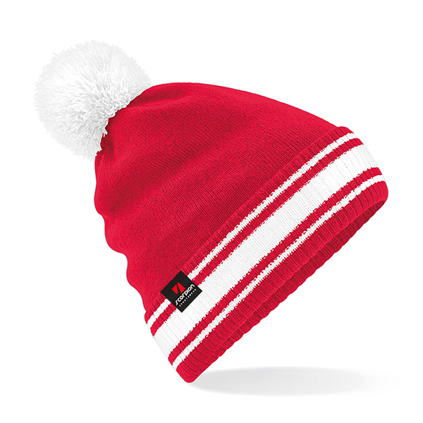 Scorpion Red White Bobble Hat