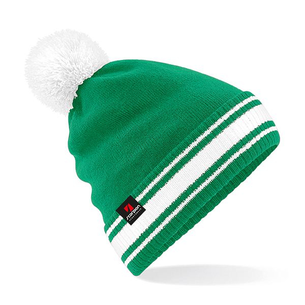 Scorpion Green White Bobble Hat