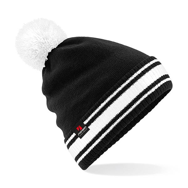 Scorpion Black White Bobble Hat