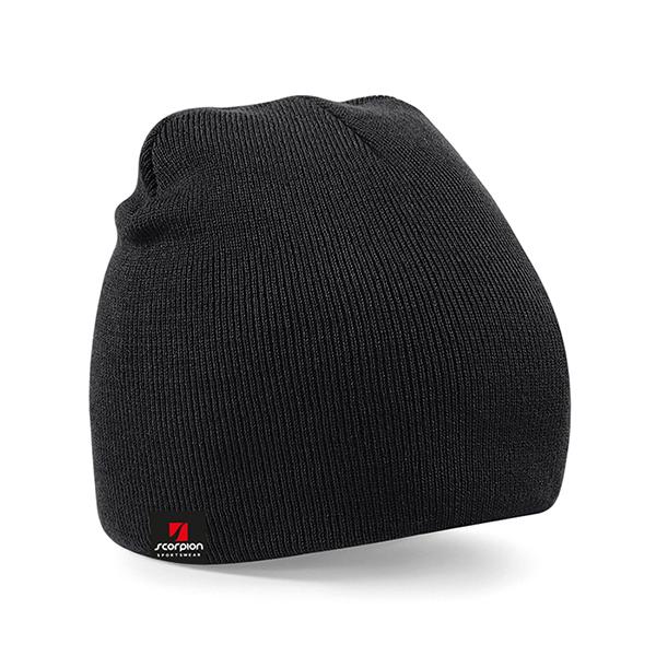 Scorpion Black Beanie Hat