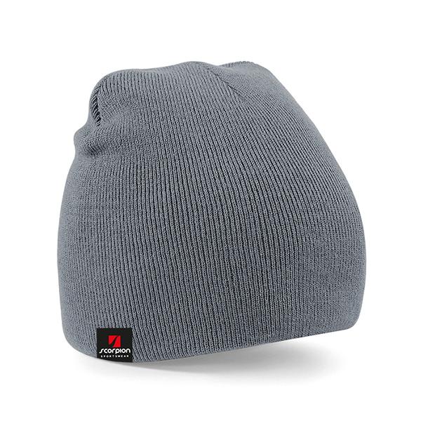 Scorpion Grey Beanie Hat