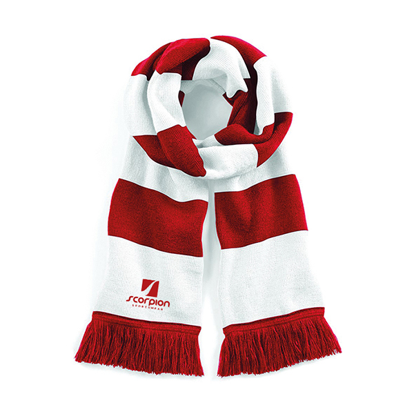 Scorpion Red White Scarf