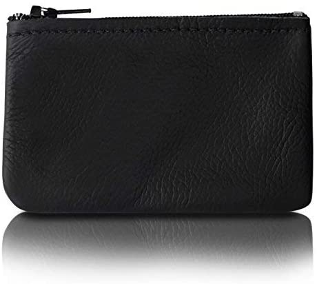 Classic Coin Pouch For Men made with Genuine Leather, Zippered Coin Purse
