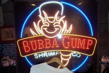 Bubba Gump Shrimp Co. light sign