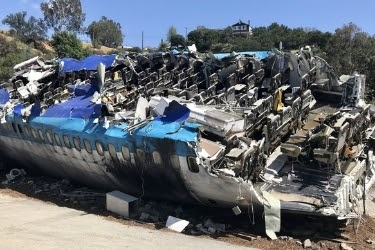 "747 plane crash stage from the movie ""War of the Worlds"""