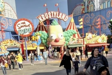 Krustyland - Entrance to the Simpsons™ Ride