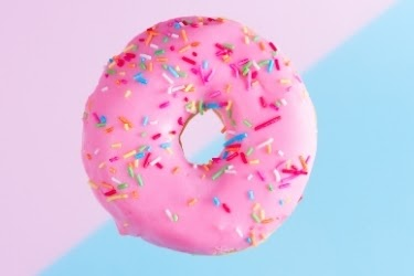 Giant Pink Donut - The Big Pink at Lard Lad Donuts