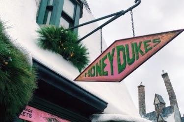 Honeydukes Store Sign