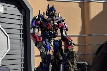 Optimus Prime character at Universal Studios