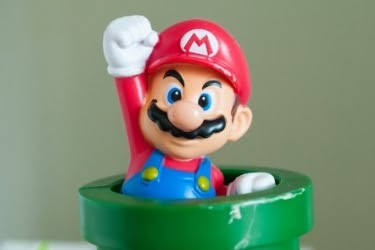 Mario coming out from a tube