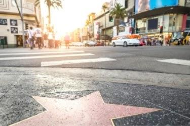 Walk of Fame star on the floor