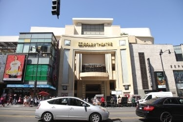 Hollywood Dolby Theatre and Highland Center in Downtown Hollywood Boulevard