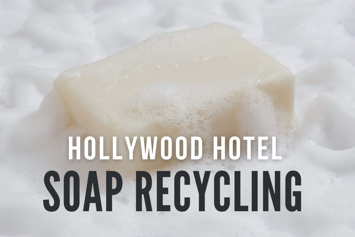 Soap with bubbles - Hollywood Hotel Soap Recycling
