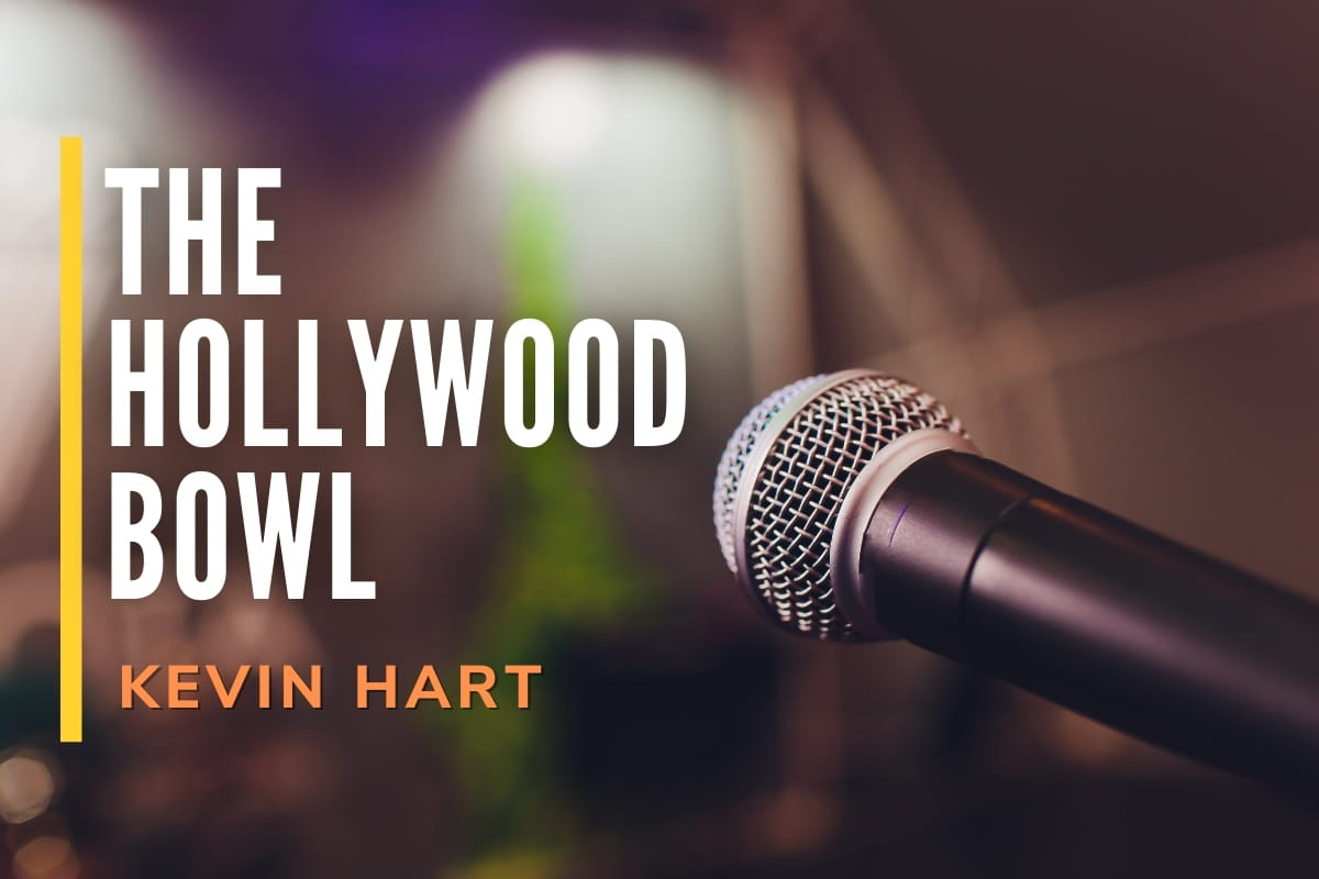 Microphone close up - The Hollywood Bowl, Kevin Hart