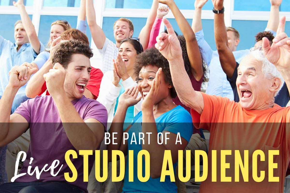 Be Part of a Live Studio Audience - Audience cheering