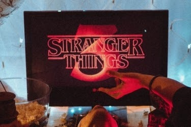 Stranger Things 3 Logo on a monitor